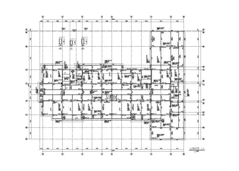 [福建]产业园框剪结构综合楼建筑结构施工图(2013)