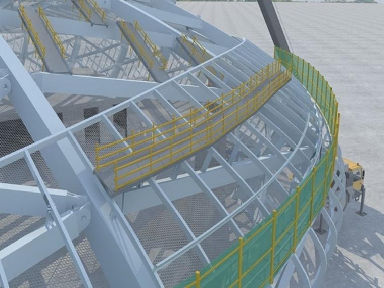 敦煌国际酒店钢结构安全防护方案