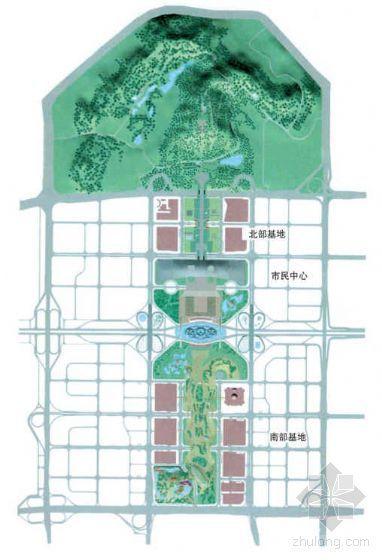 广东某市南北中轴景观规划方案