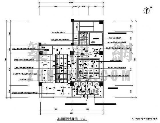 某银行营业厅装修图(二层)-2