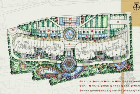 公馆周围景观设计手绘文本