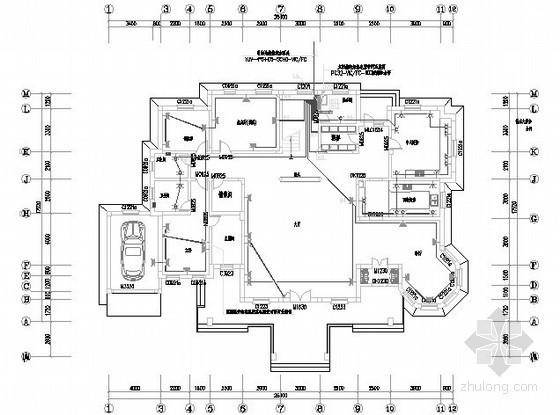 [江苏]三层别墅电气施工图