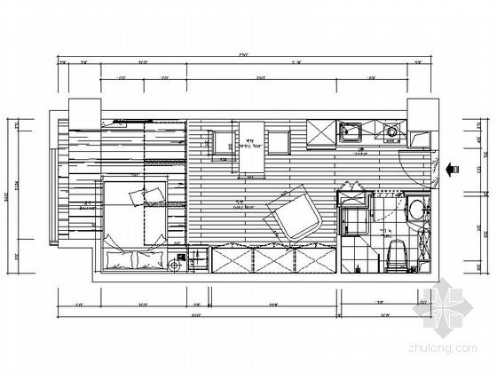 [苏州]某现代时尚精装小户型公寓室内装修设计图(含效果)