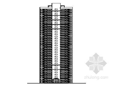 [南充市]某城市核心區高層住宅小區2號樓建筑施工圖(含節能設計)