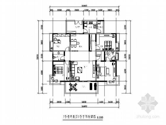 [成都]某现代四室两厅两卫装修图