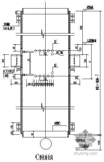 某圆钢骨柱与混凝土梁连接大样节点构造详图[1]