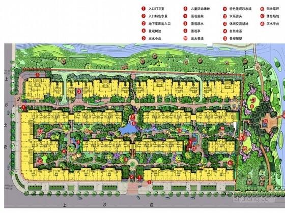 [杭州]简欧风格居住区景观设计方案