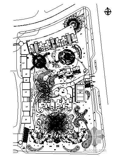 南京高档小区园林施工图全套