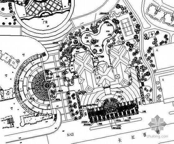 某广场景观规划设计平面图