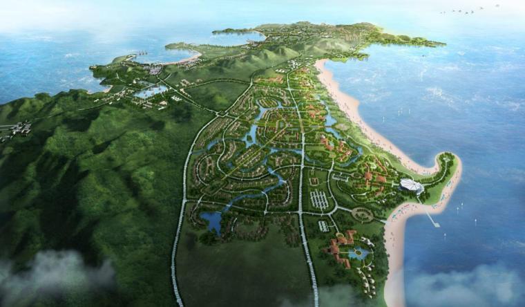 [山东]新中式风格国际滨海休闲度假区建筑设计方案文本