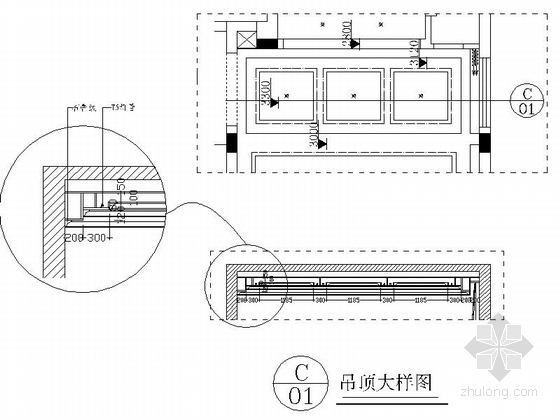 [江西]风景名胜区现代风格三层别墅装修施工图大样图