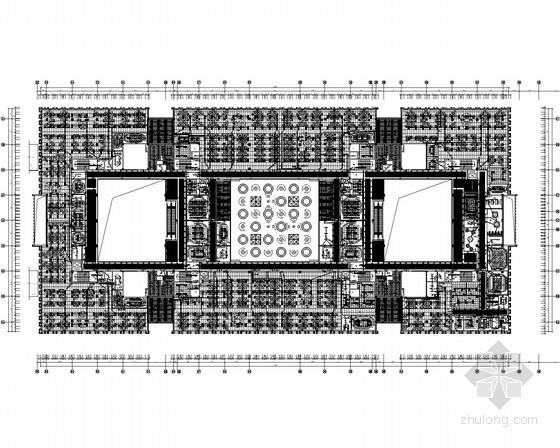 [安徽]客服中心营业办公用房室内装饰工程电气全套图(甲级设计院)