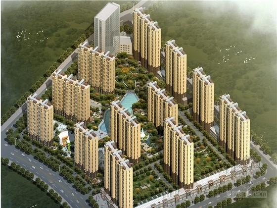 [山西]欧式古典风格高层生态住宅区规划设计(含2个方案)
