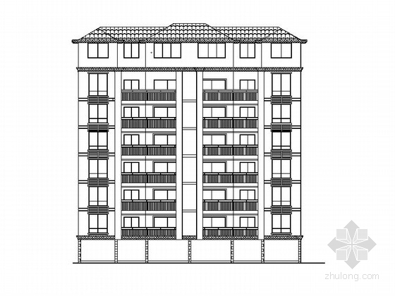 [娄底]某六层欧式风格住宅楼建筑施工图