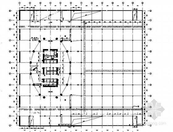 [安徽]48层框架核心筒商务楼结构施工图(筏板基础)