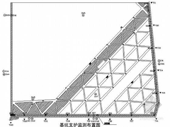 高层地下室深基坑围护结构监测设计与监测点布置详图