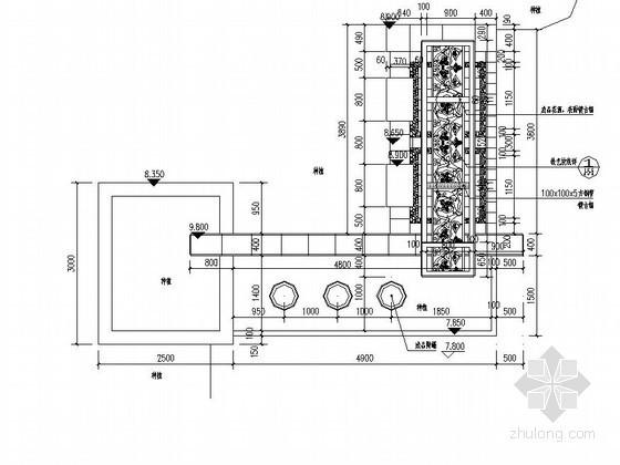 游泳池附属淋浴设施施工图