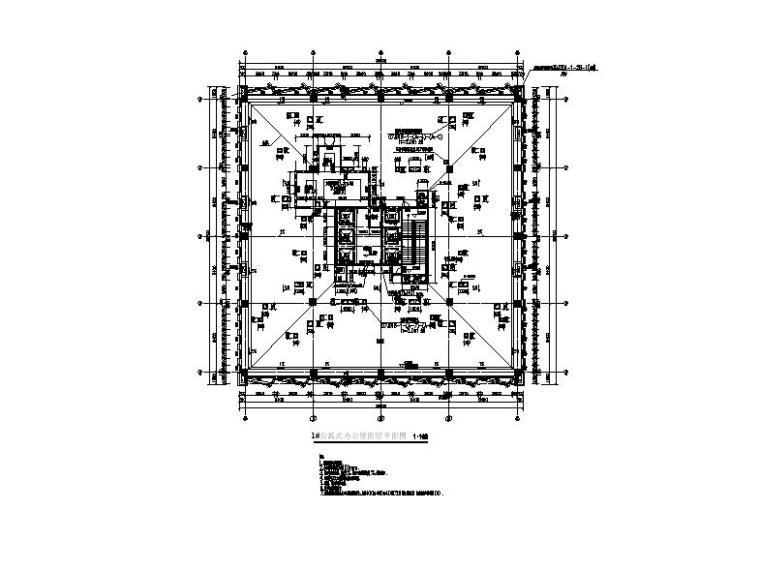 [福建]高层现代穿插式商业综合体建筑设计方案文本(含效果图)-高层现代穿插式体块商业综合体建筑平面图