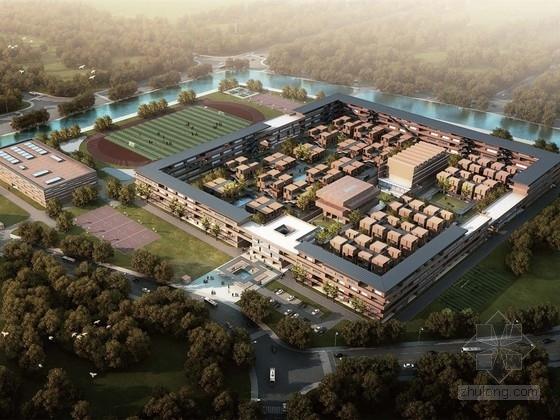 [合集]3套大型现代风格中学校园规划建筑设计方案文本