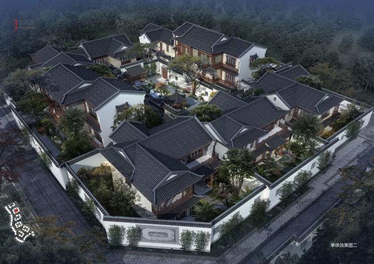 [上海]青浦市优雅新中式涵璧湾花园院落建筑设计方案文本