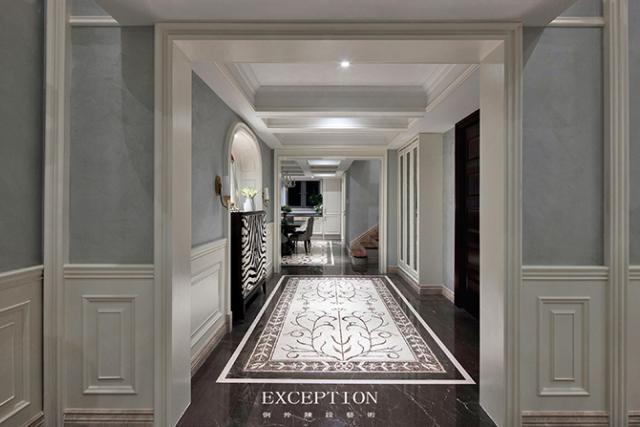 燕尔臻邸--深圳鲸山觐海复式软装设计-  「设计解读.玄关」   第2张图片