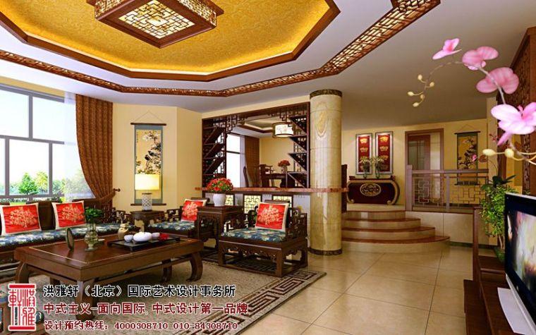 别墅中式装修-古典中式别墅装修效果图,奢华富丽优雅大气第1张图片