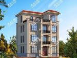 两款披瓦坡面设计的四层别墅,赛过平顶和坡顶,造价还低