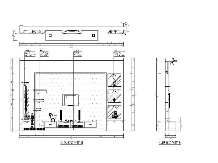 电视柜、衣柜、书桌立面全套施工图库