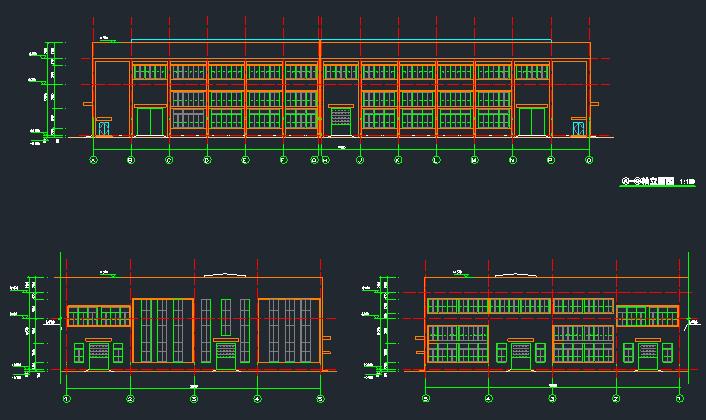 钢混框架结构拼接厂房施工图纸(含建筑结构、给排水)_1