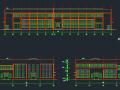 钢混框架结构拼接厂房施工图纸(含建筑结构、给排水)