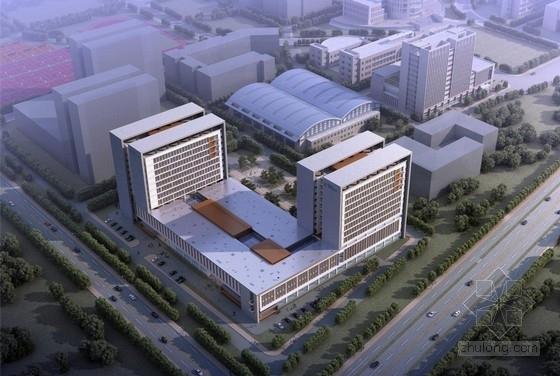 [南京]冷灰色调竖向立面规则高等院校教学实验楼建筑设计方案文本