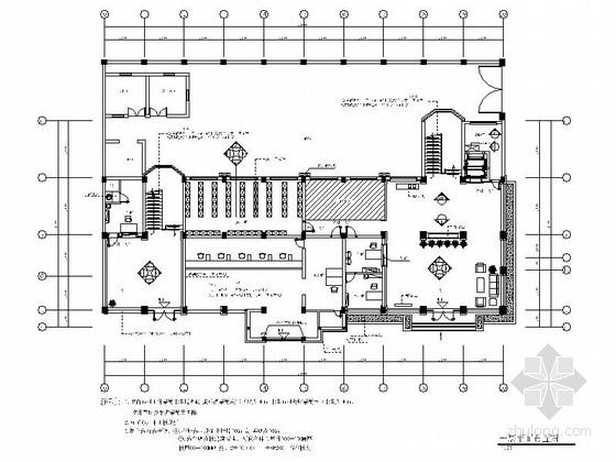 [浙江]水务公司现代风格办公楼室内装修设计施工图(含效果)