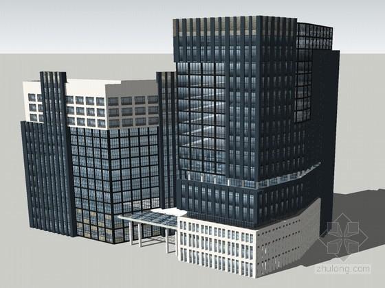 现代高大建筑SketchUp模型下载