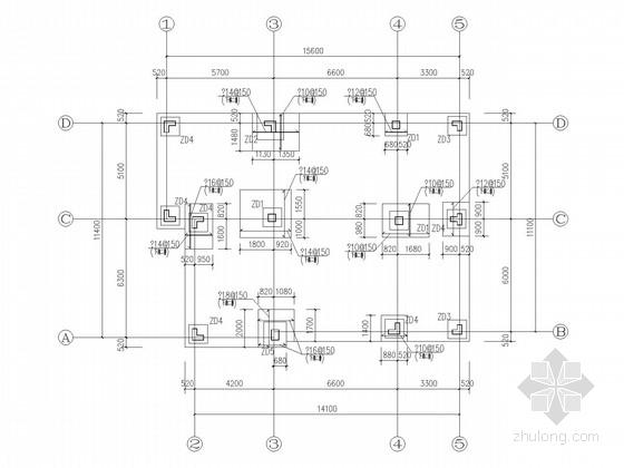 三层框架坡屋顶私人住宅结构施工图