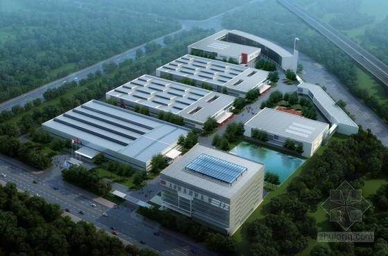 平面厂房规划规划文本资料下载-[江苏]方形天窗屋面办公楼规划建筑设计方案文本(含CAD)
