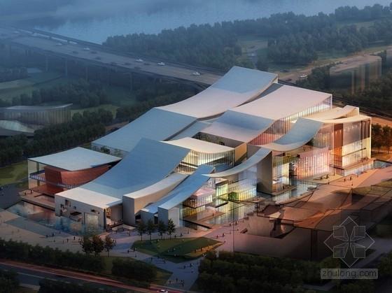 [浙江]多层连续屋顶现代风格博物馆建筑设计方案文本