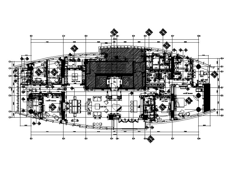 [上海]新中式大户型样板房设计CAD施工图(含效果图)