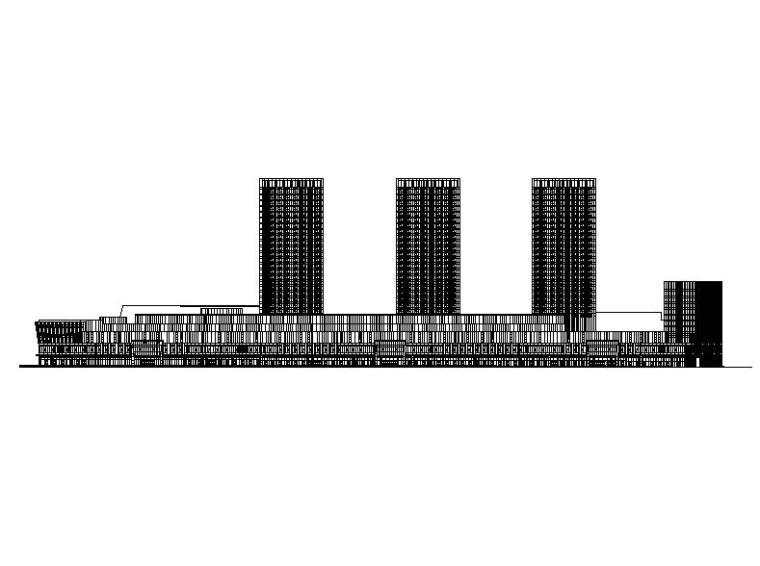 [福建]高层现代穿插式商业综合体建筑设计方案文本(含效果图)