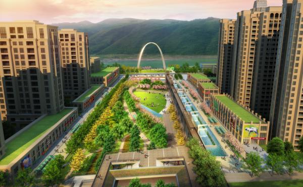 """[重庆]""""时光诗廊""""城市中心广场景观规划设计方案"""