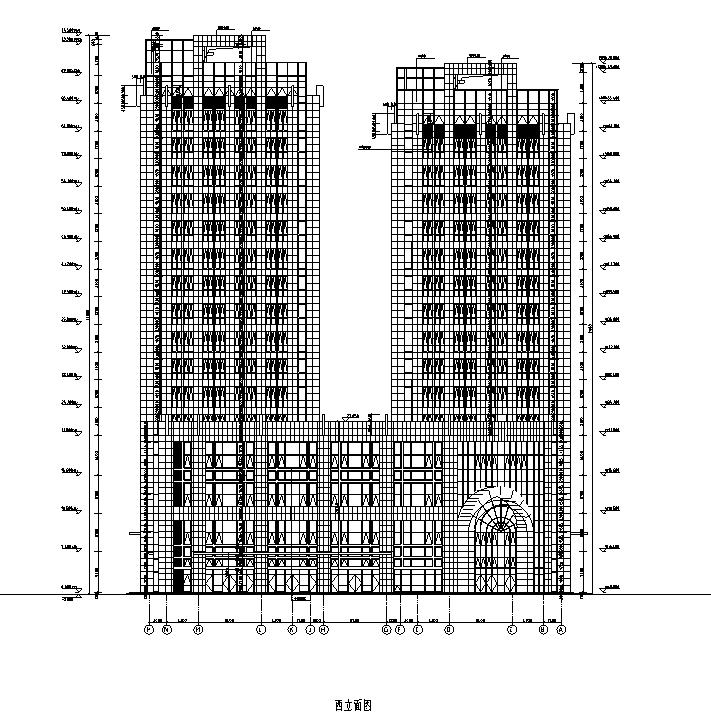 [内蒙古]高层框架结构办公、公寓及商业餐饮建筑施工图_4