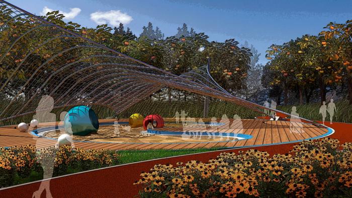 [上海]生态农业旅游庄园景观规划设计方案-种植果园采摘效果图
