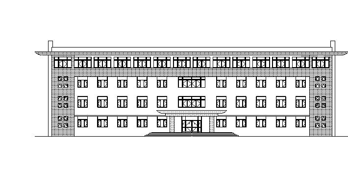[宁夏]四层钢筋框架结构厂房办公楼建筑施工图(含水暖电图纸)