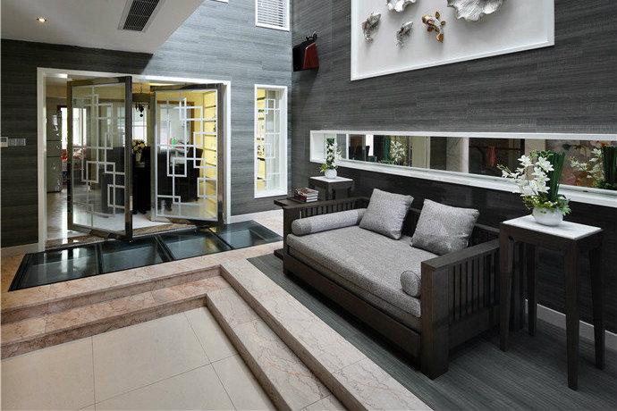 400平现代中式风格联体别墅家居装修效果图