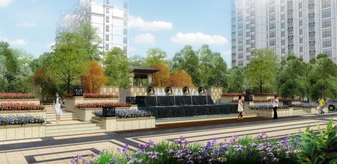 [山东]现代典雅主义生态居住区景观设计方案