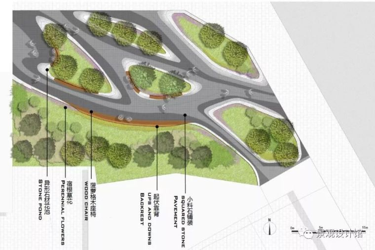 转角的幸福,八大处路小白楼景观节点改造 北林地景