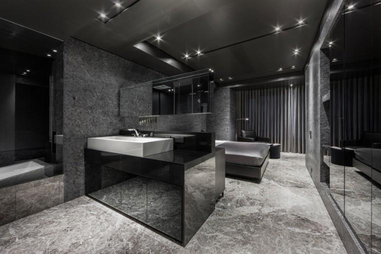 台北黑色调的公寓_8