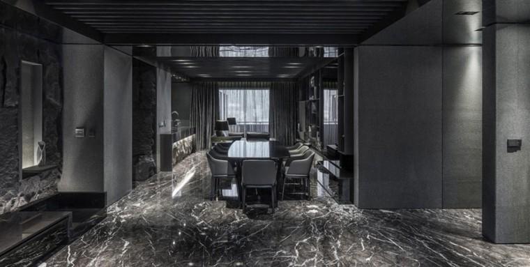 台北黑色调的公寓_3