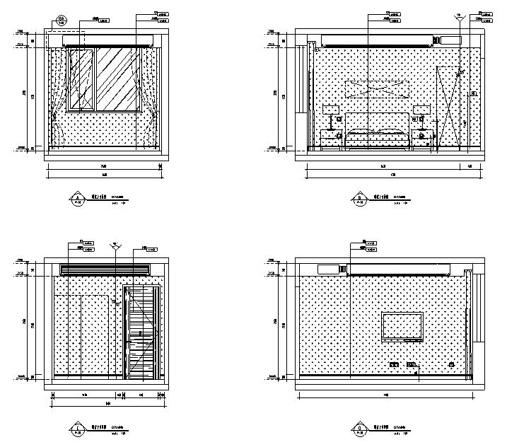 [北京]跃层户型精装样板间室内设计施工图(含效果图)_4