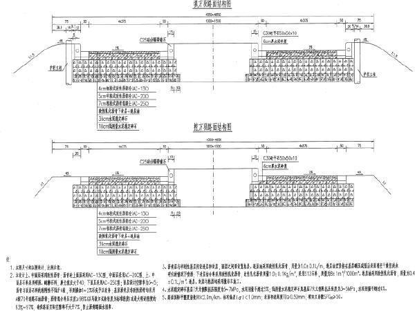 43.5-48.5米宽高速公路路基路面设计图纸316页(路基防护,排水,水泥搅拌桩)