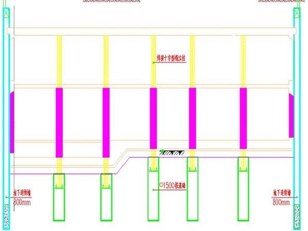 地铁及配套工程逆作法施工方案